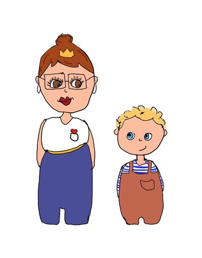 Frau-Herzkoenigin-mit-Hugo-Mentaltraining-fuer-Kinder